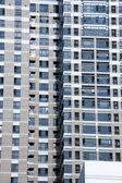 Okna v obytných budovách — Stock fotografie