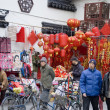 Shanghai - new year decoration — Stock Photo