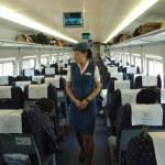 ������, ������: Female attendant in train China