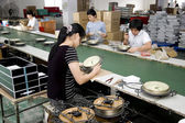 Chinese clock factory — Stock Photo
