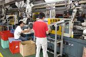 Chinese clock factory — Stock Photo