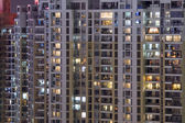 Residential buildings by night — Stock Photo