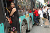 Overpopulated city in China — Stock Photo