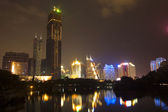 Shenzhen city by night — Stock Photo