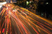 Car lights by night — Stock Photo