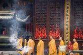 Buddhist monks in Shanghai — Stock Photo