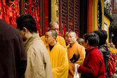 Los monjes budistas en shangai — Foto de Stock