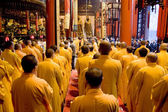 Buddhist monks in Shanghai — Stock Photo