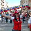 Euro2012 - Russian female fan — Stock Photo #36066469