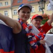 Euro2012 - Russian female fans — Stock Photo