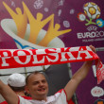 Euro2012 - football fan with neckerchief — Stock Photo #36066803