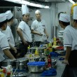 Stock Photo: Chinese restaurant - chefs in kitchen