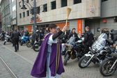 Priest blessing for motorcycles — Stock Photo