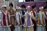 Folk dance group members — Stock Photo