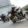 Super rally - Harley motor parade — Stock Photo