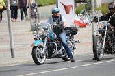 Harley-Davidson motorcyclist — Stock Photo