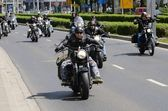 Super rally - Harley motor parade — Stock Photo