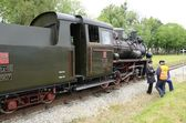 Narrow gauge railway in Poland — Stock Photo