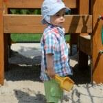 ������, ������: Baby boy in sandpit