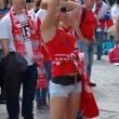 Pretty female fan, Euro2012 — Stock Photo