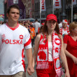 Euro2012 - Polish couple — Stock Photo #44557121