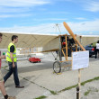 Air show - Bleriot plane replica — Stock Photo