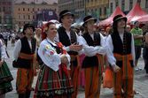 Folk dance group — Stock Photo