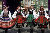 Traditional Polish dress — Stock Photo