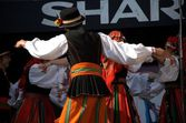 """Dancing group """"Wroclaw"""" on stage — Stock Photo"""