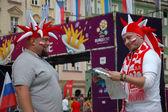 Euro2012 - kibice — Zdjęcie stockowe