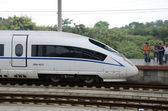 Fast train in China — Stock Photo