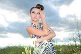 女の子の屋外のポートレート — ストック写真