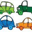 Vector cartoon cars set isolated on white background  — ベクター素材ストック