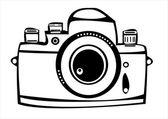 白い背景上に分離されてベクトル ビンテージ フィルム写真カメラ — ストックベクタ