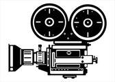 Векторные винтажные пленочной камеры, изолированные на белом фоне — Cтоковый вектор