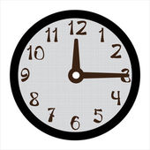 Clock vector on white background — Stock Vector