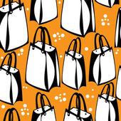 Seamless pattern shopping paper bags — Stock Vector