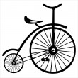 Retro bicycle on white background — Stock Vector #26877093