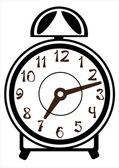 Alarm clock vector on white background — Stock Vector