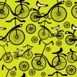 Seamless pattern retro bicycle — Stock Vector #27307003