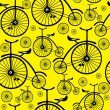 Seamless pattern retro bicycle — Stock Vector