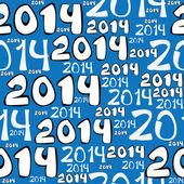 Seamless pattern 2014 year — Stock Vector