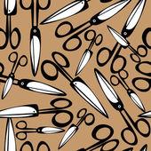Seamless pattern scissors — Stock Vector