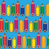 无缝图案彩色铅笔 — 图库矢量图片