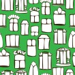 Seamless pattern vintage windows — Stock Vector