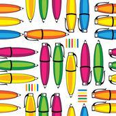 Dikişsiz desen renkli kalemler — Stok Vektör