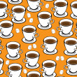 Seamless pattern cup of coffee — Stock Vector