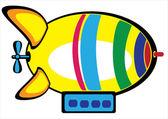 дирижабль цветные на белом фоне — Cтоковый вектор
