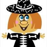 Girl in carnival costume Halloween — Stock Vector #30868657