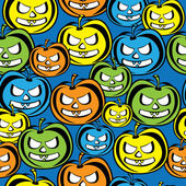 Seamless pattern colored pumpkin — Stock Vector